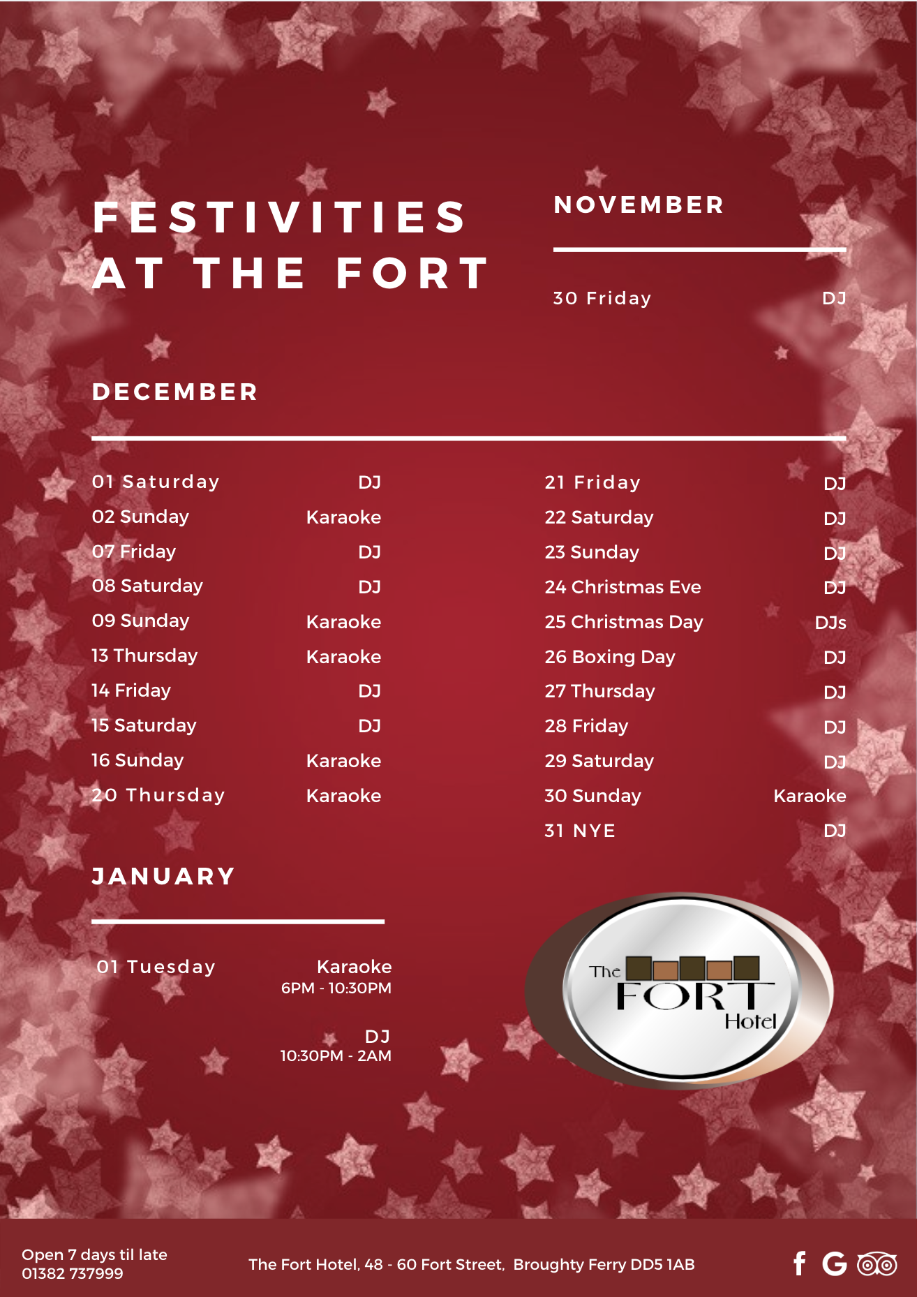 December Fort Hotel Broughty Ferry